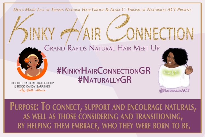 Kinky Hair Connection Welcome Poster 12x18